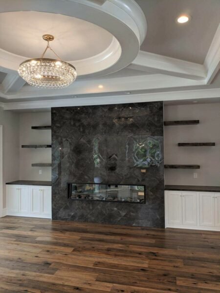 Hardwood Floor and Tile Fireplace Surround (2)