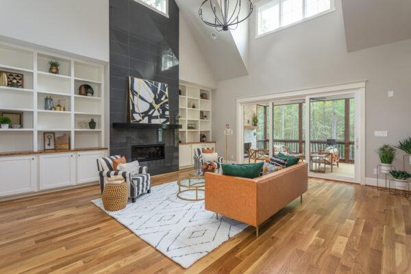 Southern Floor Designs- brown hardwood floors